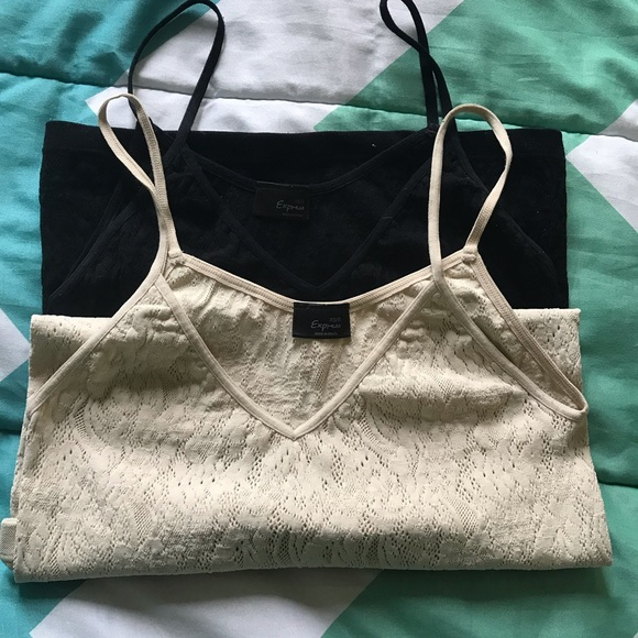 Express Tops - 2 Express Lacy Tank Tops